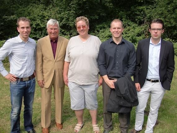 v.l. Dennis Thering, Wolfgang Kosmalla, Christina Pfeiffer, Andreas von Weihe und Thomas Mühlenkamp
