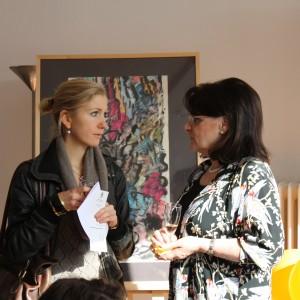 Interessante Gespräche am Rande der Ausstellung