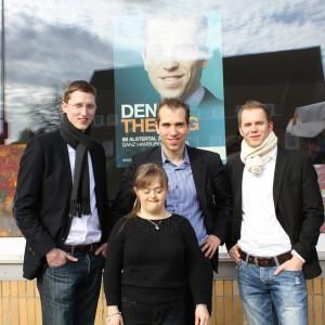 Sören Niehaus, Isabell Liebehenz, Dennis Thering und Andreas von Weihe
