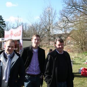 Andreas von Weihe, Sören Niehaus und Philip Buse