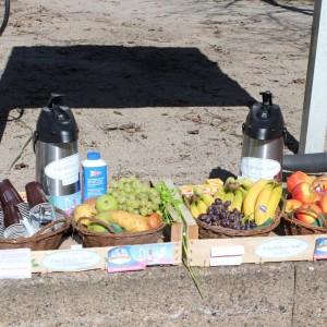 Das Fruchthaus Sasel hat alle Helferinnen und Helfer mit gesundem Obst versorgt.