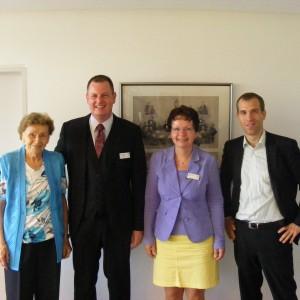 Gerda Zielke, Thorsten Schulze, Dorothea Ruhe und Dennis Thering