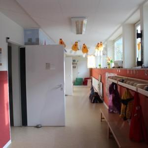 Der Eingangsbereich zur Kita im Max-Kramp-Haus
