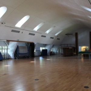 Die Turnhalle im Obergeschoss des Sasel Haus