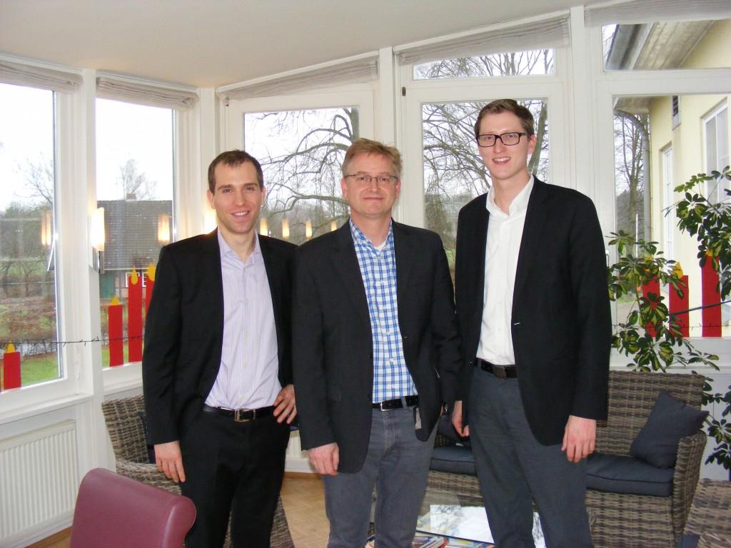 Dennis Thering, Steffen Schumann (Vorstandsvorsitzender) und Sören Niehaus