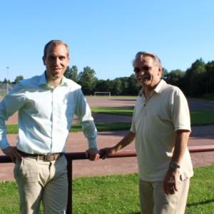 Dennis Thering im Gespräch mit dem Vorsitzenden Michael Klemz