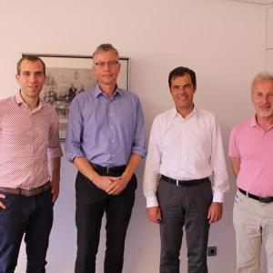 Gemeinsam mit Dr. Hartmut Clausen (Vorsitzender des Vorstandes) und Frank Schubert (Vorstand)