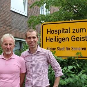 Bezirksabgeordneter Heinz Seier und Dennis Thering