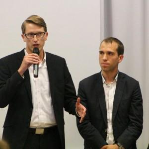 Sören Niehaus und Dennis Thering kämpfen für die Anwohner der Berner Au