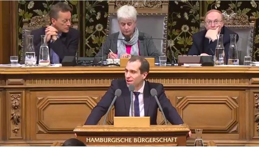 Rede in der Hamburgischen Bürgerschaft vom 22. November 2017 zum Thema Sturmschäden in Hamburg