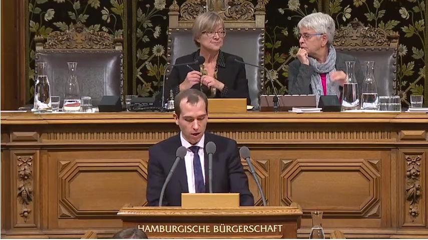 Rede in der Hamburgischen Bürgerschaft vom 22. November 2017 zum Thema Dekade des Schnellbahnausbaus gestalten
