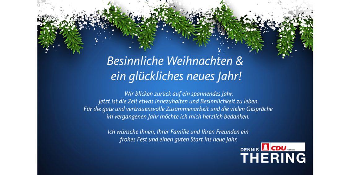 Besinnliche Weihnachten & ein glückliches neues Jahr