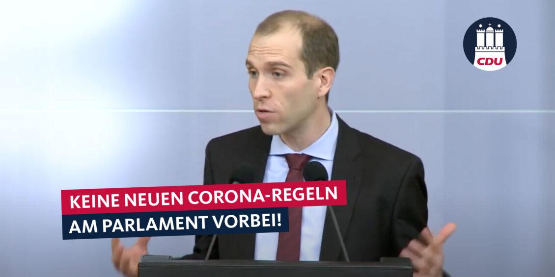 Debatte und Beschluss über Anti-Corona-Maßnahmen gehören in die Hamburgische Bürgerschaft!